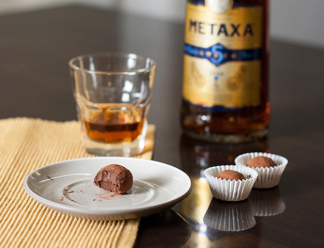 truffles with brandy