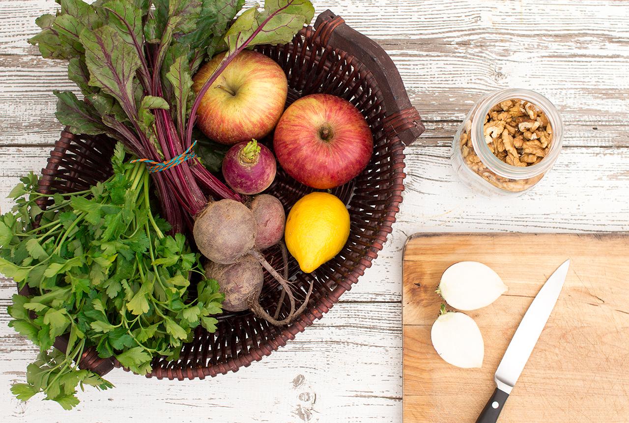 sałatka z buraka i jabłka składniki
