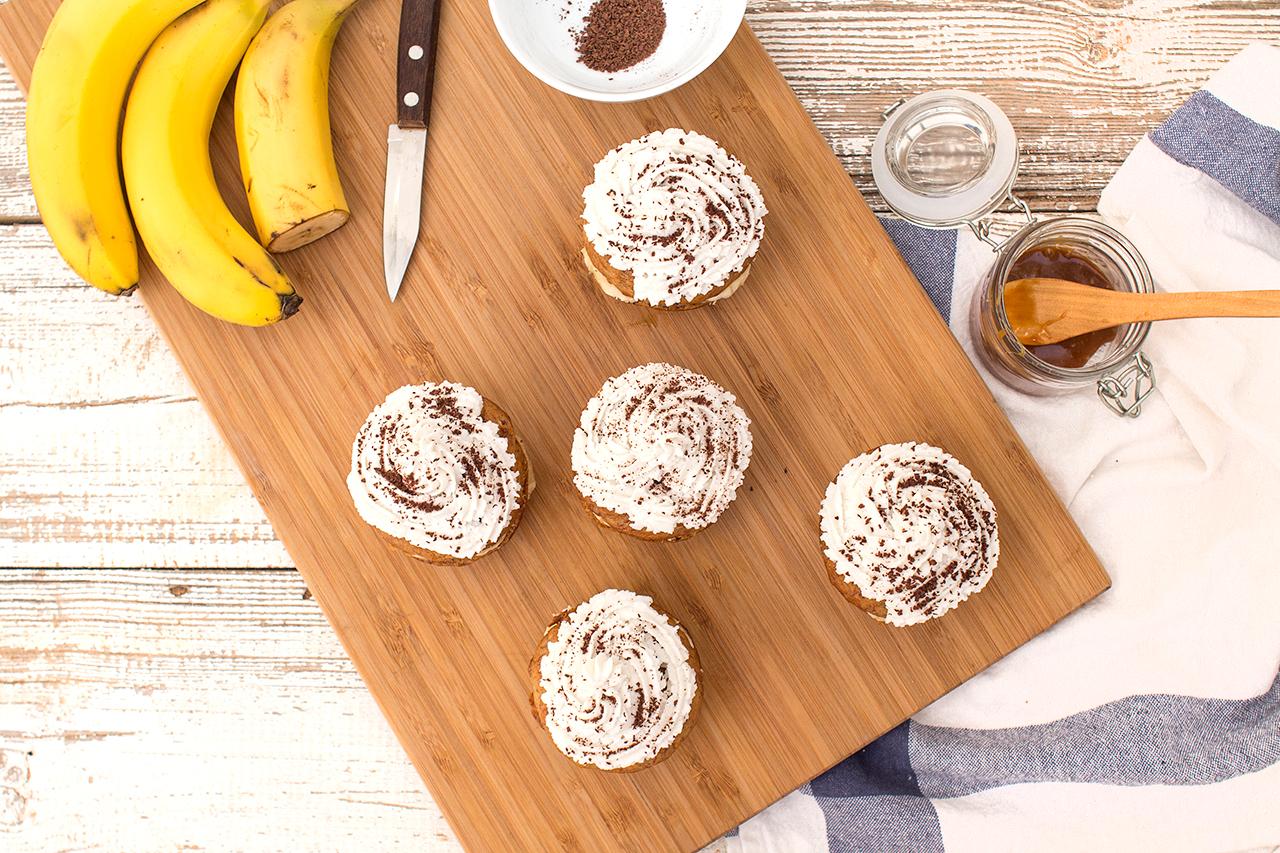 babeczki bananowo-kokosowe z góry