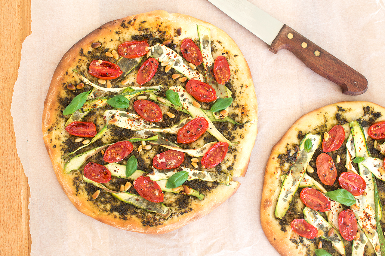 wegańska pizza dla dwojga