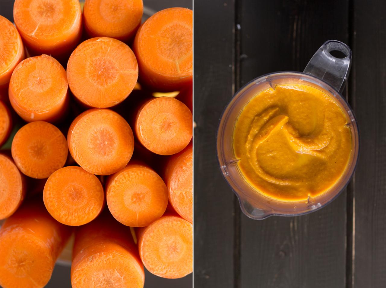 marchew oraz krem curry z marchwi i soczewicy