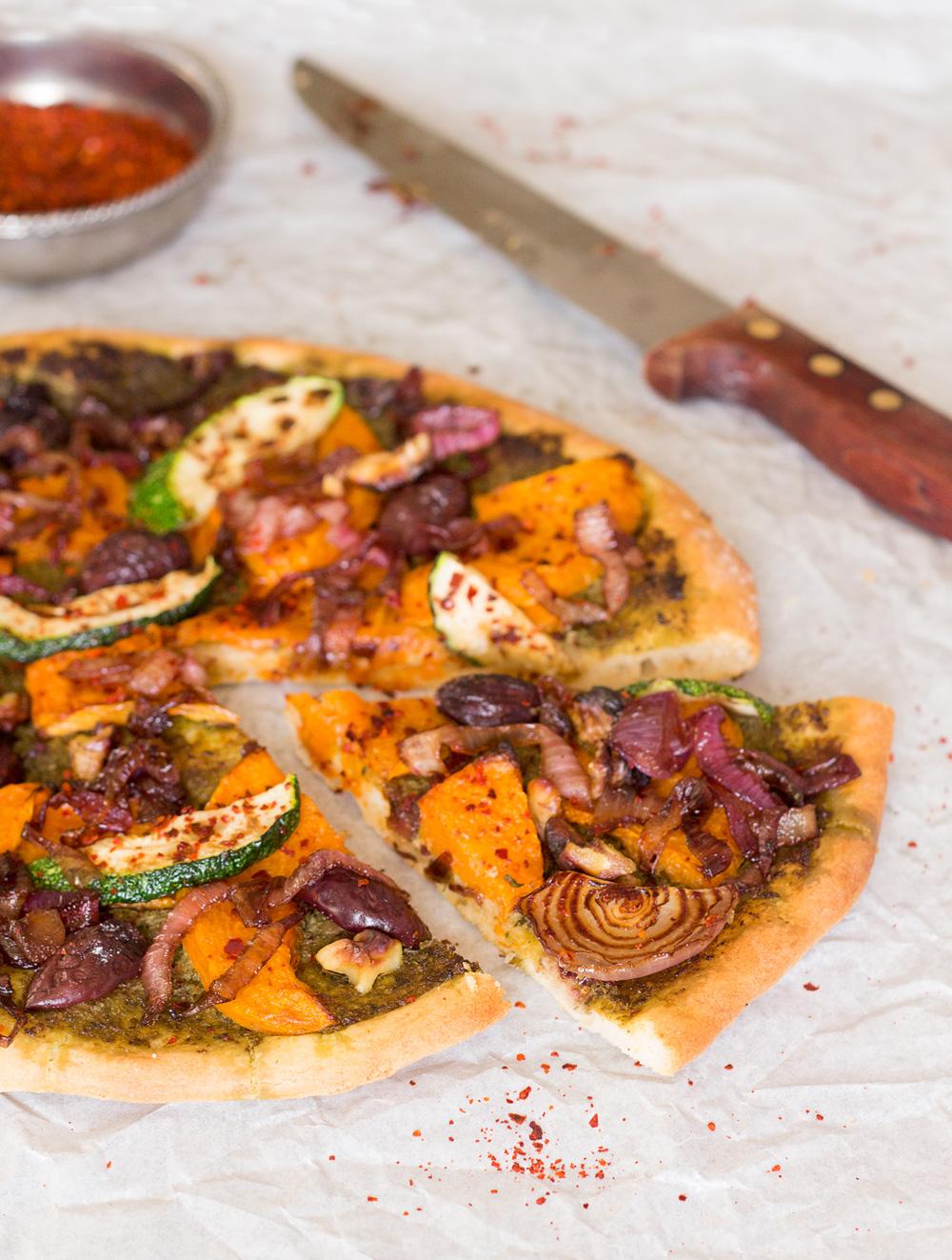 wegańska pizza z dynia