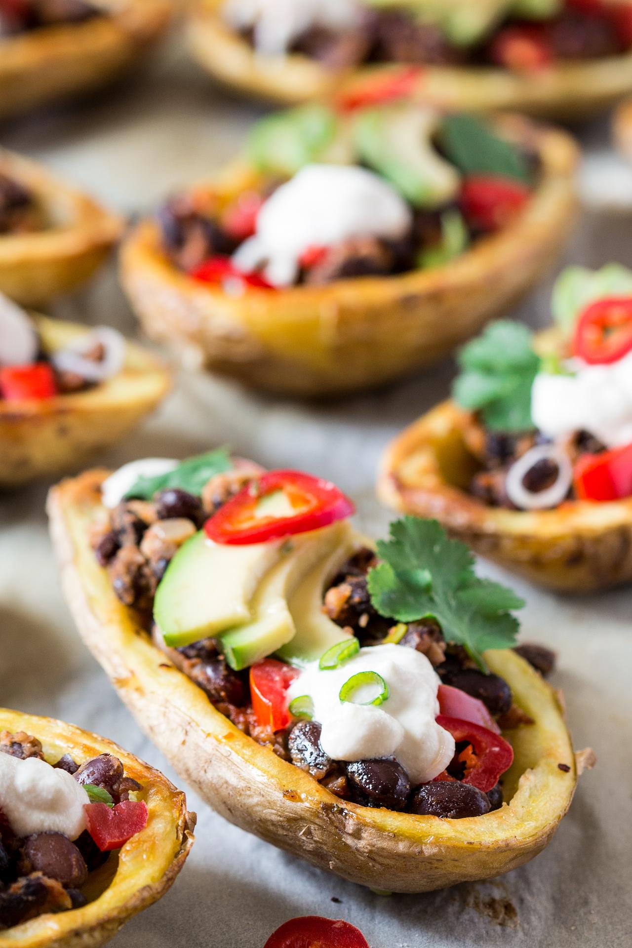 meksykańskie łódki z ziemniaków