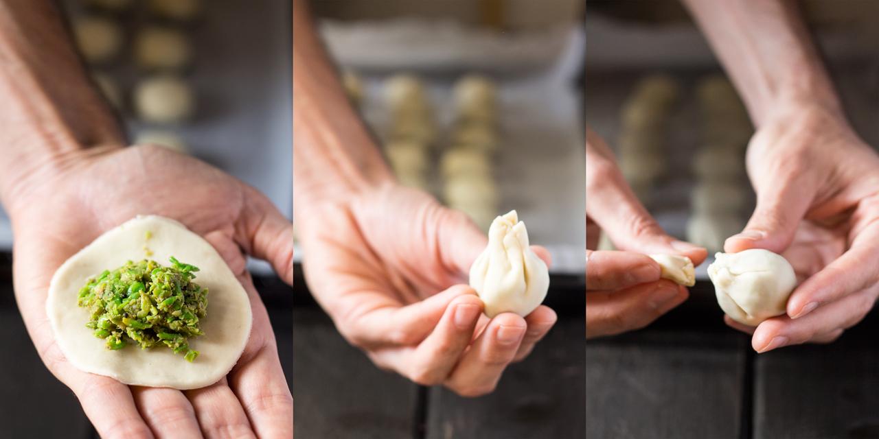 pieczone kachori z groszkiem krok po kroku