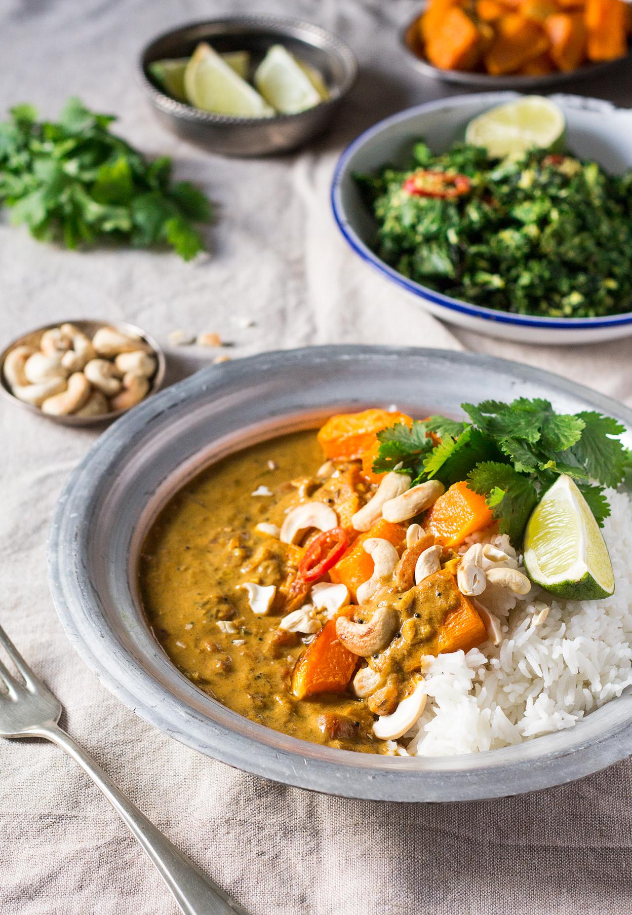 curry z dynią w sosie kokosowym