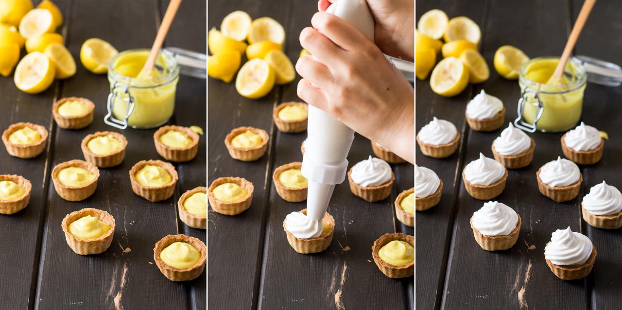 wegańskie tartaletki cytrynowe z bezą dekorowanie
