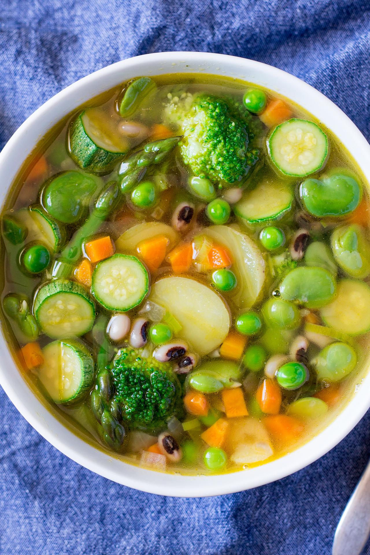 zielona minestrone
