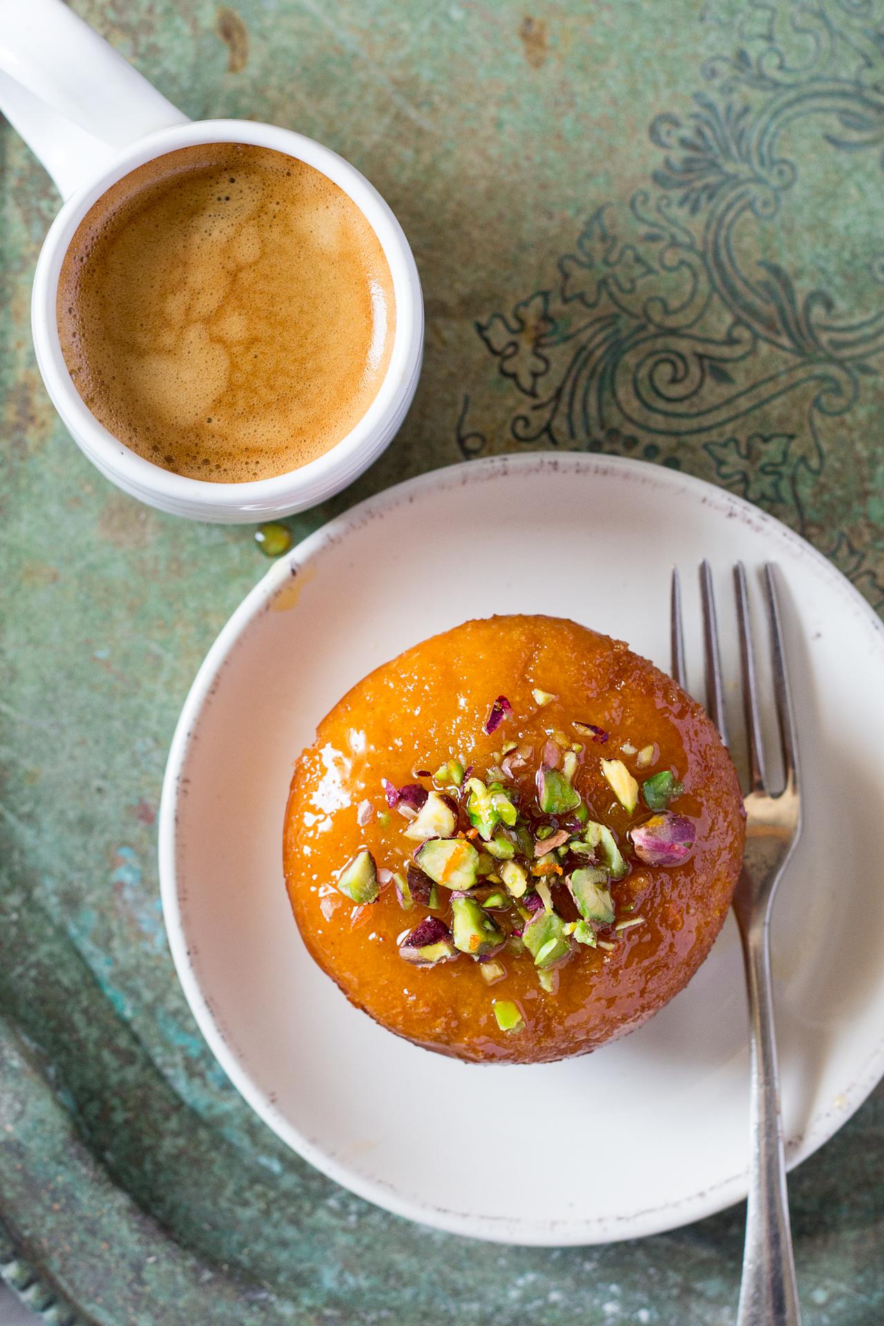 pomarańczowe babeczki z semoliną na deser