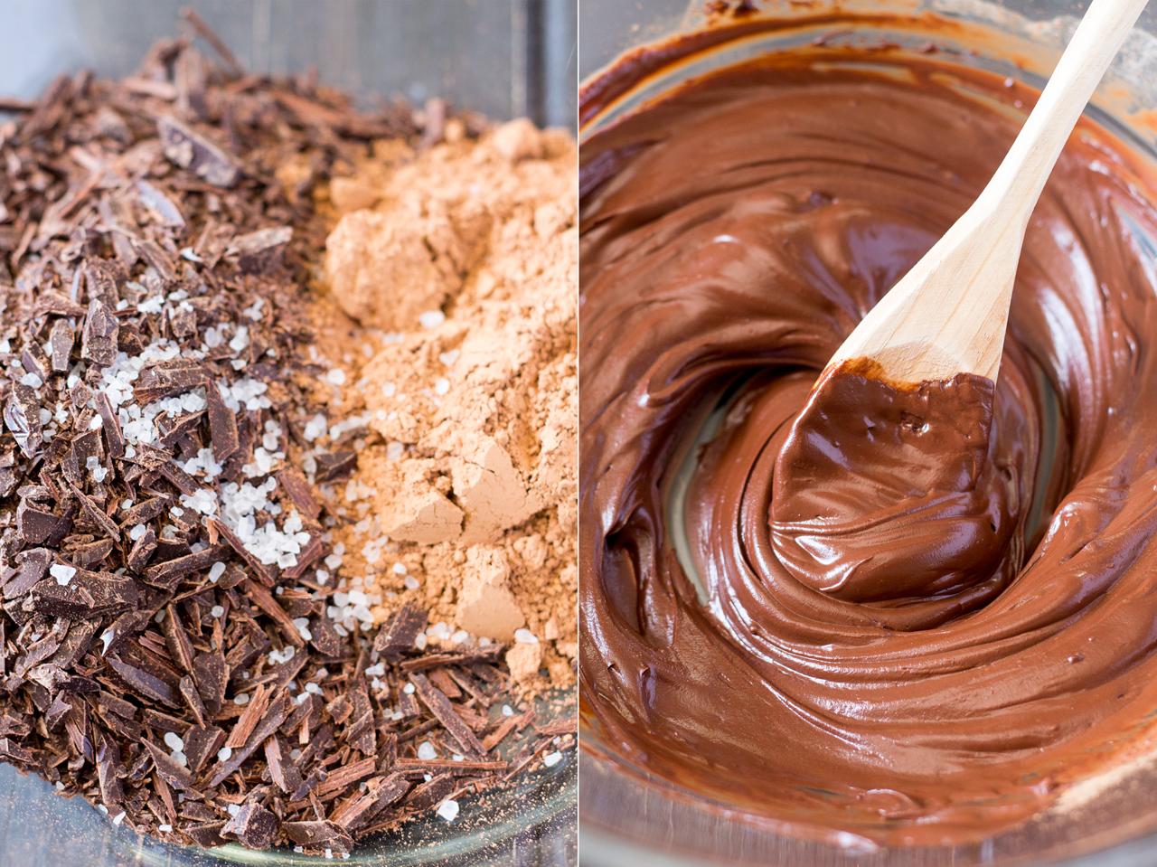 wegańskie mokre brownies przygotowanie